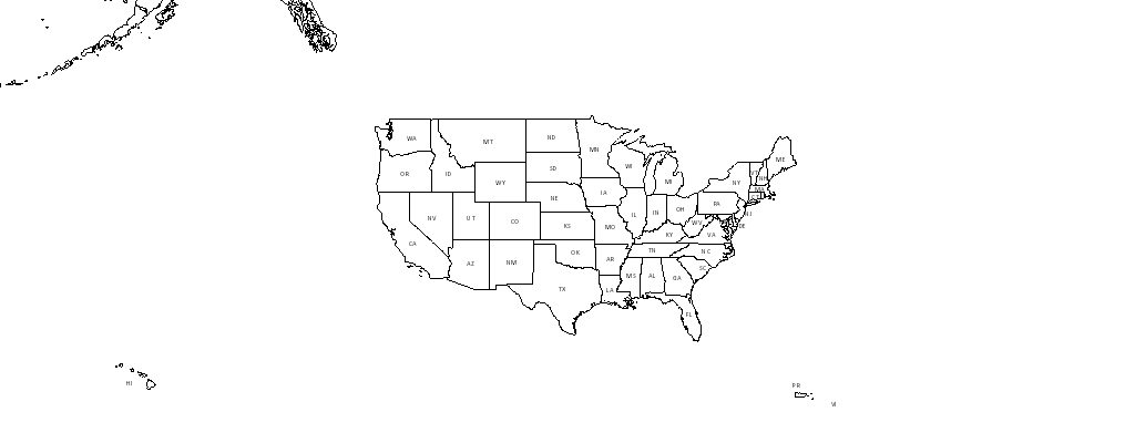 USPS Priority Mail Delivery Map - Us shipping zones map